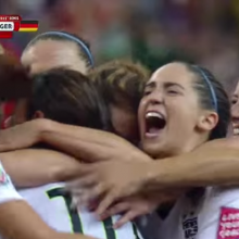 Screenshot of USA-GER goal celebration