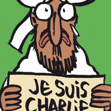Screenshot of Charlie Hebdo cover illustration. Image via RNS.