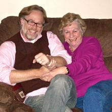 Tripp Hudgins and his mom, Debby, laughing. Photo courtesy of the author.