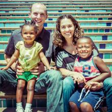 Amy Graham, with her husband, Aaron, and their children, Natalie and Elijah.