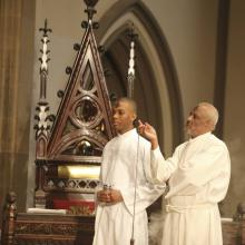 Two priests preside at Ash Wednesday service