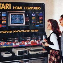 Atari gaming demo center, circa 1980. Image via wylio