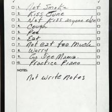 Johnny Cash's to-do list. Image via Open Culture.