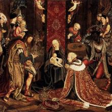 A 16th-century depiction of the Epiphany from Germany. Via http://bit.ly/yeOf4J