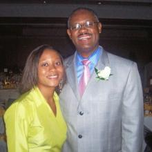 Erika with her father, Carl Stokes.