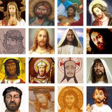 A collection of images of Jesus. Image courtesy Christian Piatt/Patheos.