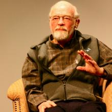 Eugene Peterson speaking Tuesday at the Q Practices gathering in New York City.