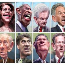 GOP Presidential Candidates, image by DonkeyHotey via Wylio (http://bit.ly/uvSrq