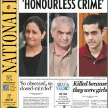 Front Page of Canada's National Post announcing the Shafia Murder Convictions.