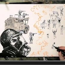 Screenshot from Molly Crabapple's Fusion video