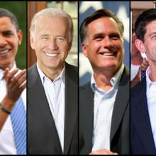 Obama, Biden, Romney, Ryan.