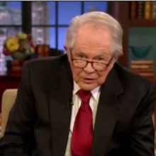 Pat Robertson. Screen capture from 1/4/12 700 Club broadcast.