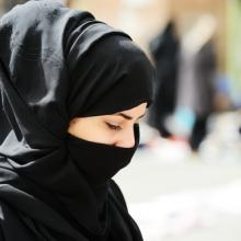 Muslim woman with hijab. Image via 	Zurijeta / Shutterstock.