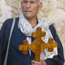 Photo: Egyptian Copt pilgrim visit the church of the Holy Sepulcher in Jerusalem