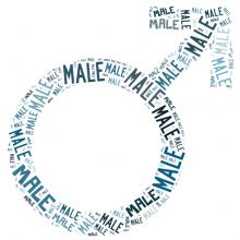 Male symbol word cloud, Faiz Zaki / Shutterstock.com
