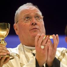 Cardinal Timothy Dolan says Mass in Madrid in 2011, Jeffrey Bruno / Shutterstock