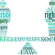 Equality symbol tag cloud,  life_in_a_pixel / Shutterstock.com