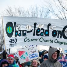 Marchers at the Foward on Climate rally, March 2013. Image courtesy Rena Schild/