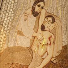Mosaic of the Good Samaritan, Renata Sedmakova / Shutterstock.com