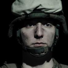 U.S. soldier mourning, BPTU / Shutterstock.com