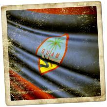 The flag of Guam. Image via Jiri Flogel/shutterstock.com