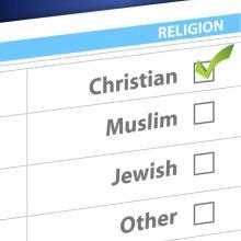 Religion survey box, alexmillos / Shutterstock.com