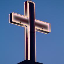 Neon cross. Image courtesy Laura Bartlett/shutterstock.com