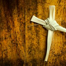 A cross of palm fronds. Image courtesy Ricardo Reitmeyer/shutterstock.com