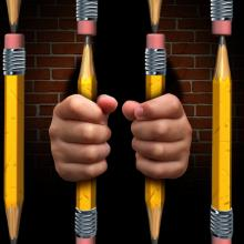 School-to-prison pipeline illustration, Lightspring / Shutterstock.com