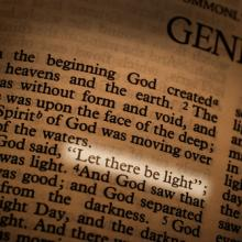 First page of Genesis, AdStock RF / Shutterstock.com