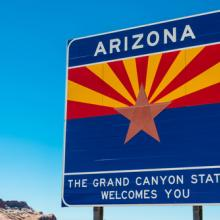 Arizona highway sign, Janece Flippo / Shutterstock.com