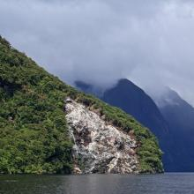 View from Doubtful Sound in New Zealand, Harrison B / Shutterstock.com