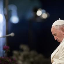 Pope Francis in Rome on April 18, giulio napolitano / Shutterstock.com