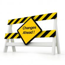 Warning: changes ahead. Image via CGinspiration/shutterstock.com