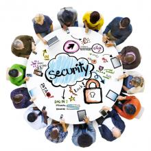 Community gathered around online security. Image via Rawpixel/shutterstock.com