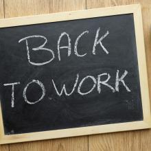 Chalkboard for work. Image courtesy Brt/shutterstock.com