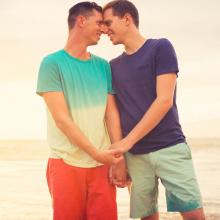 A gay couple holding hands. Image courtesy EpicStockMedia/shutterstock.com
