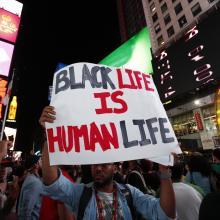 Demonstration in New York on Aug. 14. a katz / Shutterstock.com