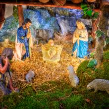 A typical Christmas manger scene. Image courtesy nomadCro/shutterstock.com