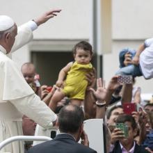 Pope Francis in St. Peter's Square, giulio napolitano / Shutterstock.com
