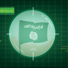 ISIS flag in target scope, Crystal Eye Studio / Shutterstock.com