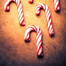 Candy canes on a table. Image courtesy Wilson Araujo/shutterstock.com