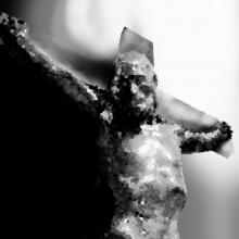 Abstract image of Jesus' crucifixion, lubbas / Shutterstock.com