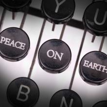 Peace on Earth type, MyImages - Micha / Shutterstock.com
