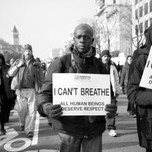 Protestors gather in Washington, DC, December 2014. Image via Rena Schild/shutte