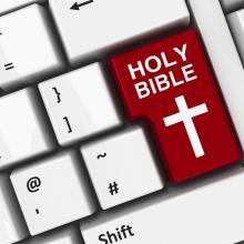 Faith online. Image courtesy Oakozhan/shutterstock.com
