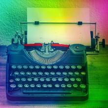 Typewriter in 2014. Image courtesy LiliGraphie/shutterstock.com