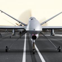 Drone preparing for takeoff. Image courtesy Digital Storm/shutterstock.com