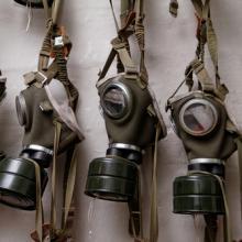 Gas masks of World War II. Image via RNS/shutterstock.com