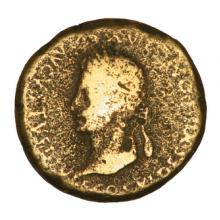 Bronze coin of Emperor Augustus, who ruled 27BC-14AD. Image courtesy I. Pilon/sh